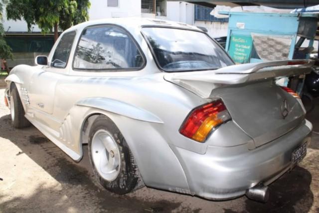 Самодельный Mercedes-Benz 300SL из старого купе W114