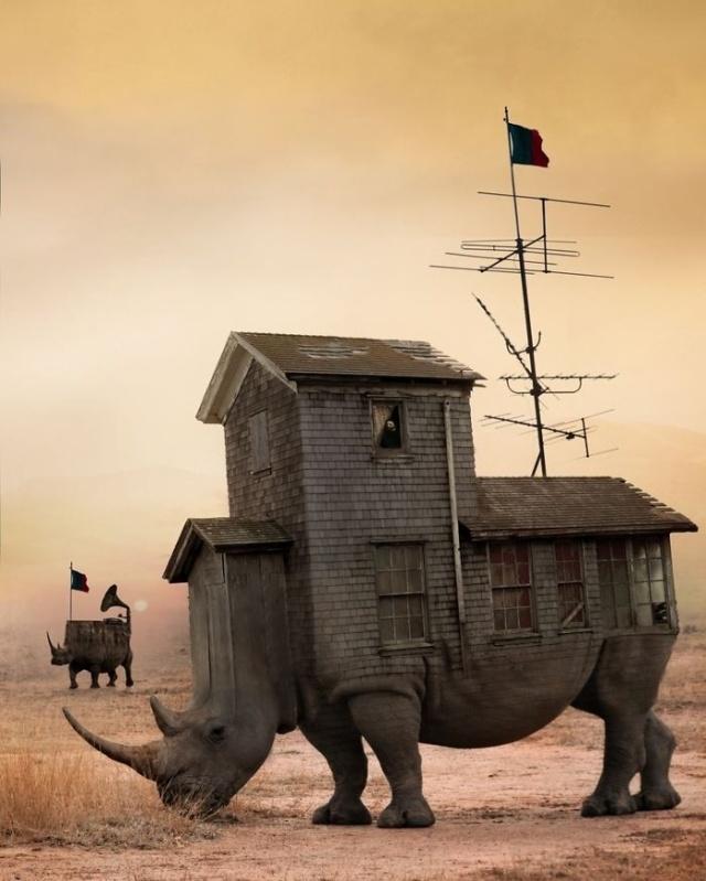 Слияние мира фэнтези и реальности в работах польского иллюстратора