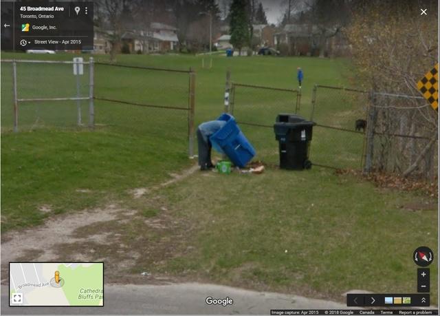 Странные кадры с сервиса Google Street View