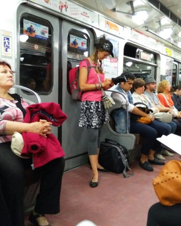 Странные люди в метро