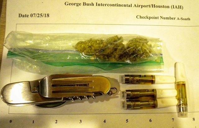 Предметы, конфискованные у пассажиров в аэропортах