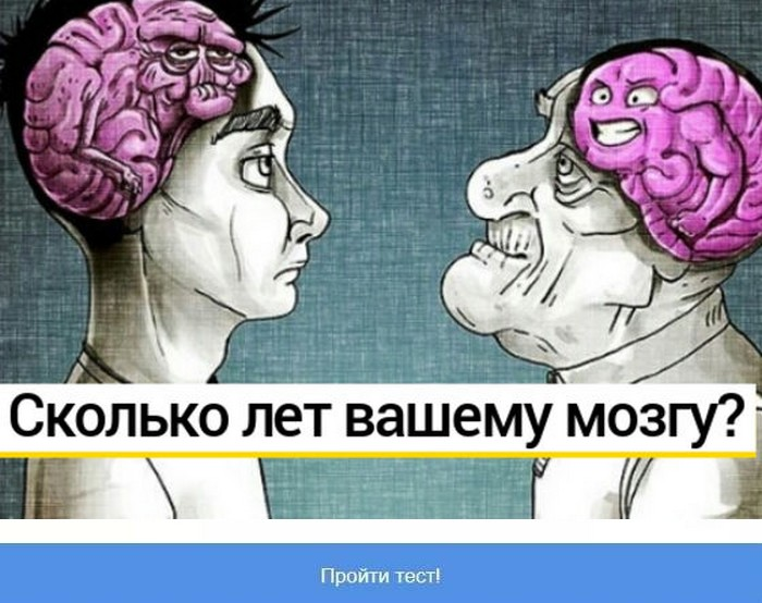 Тест: ваш мозг старше или моложе вашего настоящего возраста?