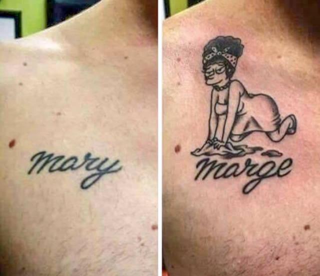 """Татуировки в стиле """"до и после"""""""