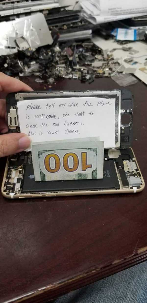 Самый необычный заказ в истории мастерской по ремонту смартфона