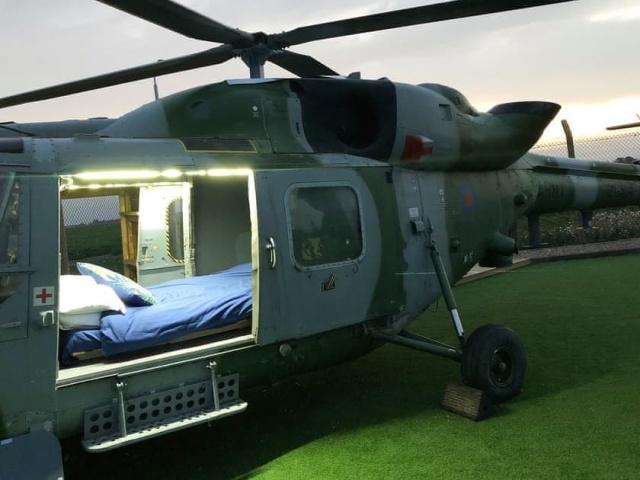 Необычные апартаменты в вертолете