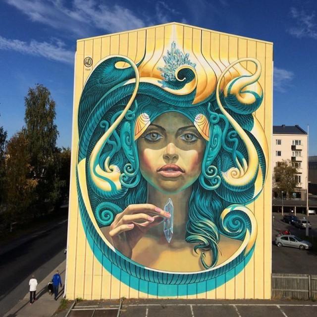 Впечатляющие фотореалистичные граффити